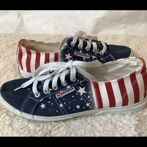 Superga Canvas Stars and Stripes Patriot Sneakers